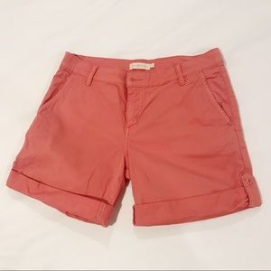 Tory Burch size 28 salmon pink rolled shorts